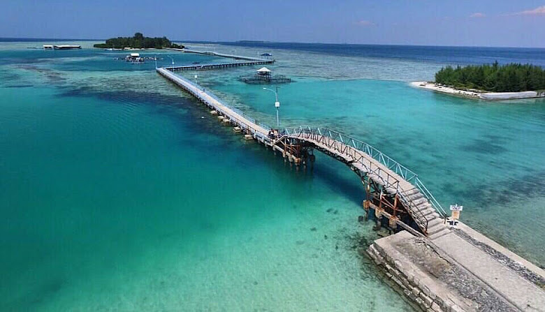 jembatan cinta pulau tidung, dan pulau tidung kecil
