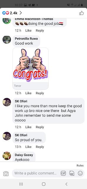 John Dumelo the farmer Reactions