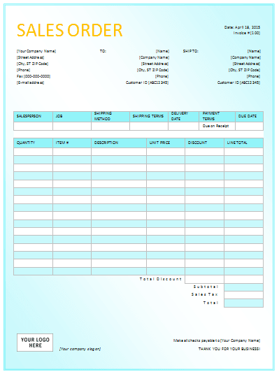 customer order form template excel - document templates sales order templates for excel