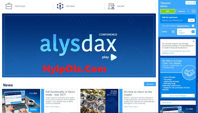 [SCAM] Review AlysDax - Dự án đầu tư hot nhất đến từ Dubai - Tương dự WeenZee, Hooplex