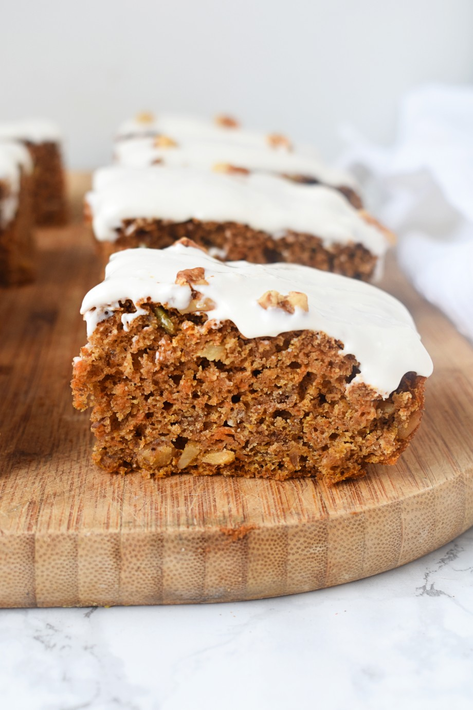 High-protein carrot cake