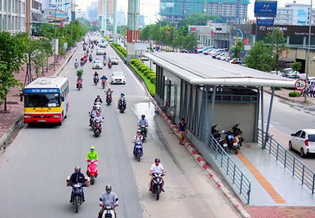 Tuyến xe bus nhanh đầu tiên tại Hà Nội