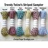 Trendy Twine's Striped Sampler