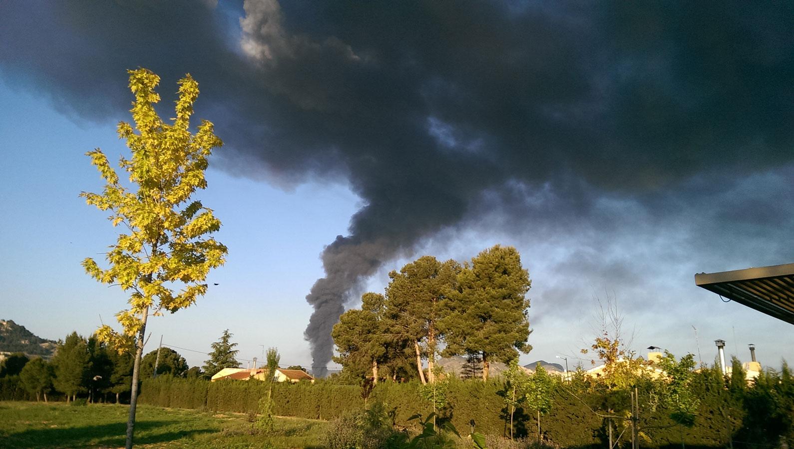 Yecla, incendio fábrica