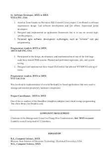 Project Manager Skills Resume