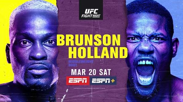Watch UFC Fight Night Vegas 22 Brunson vs Holland 3/20/2021 Live Online
