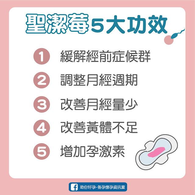 聖潔莓5大功效、聖潔莓推薦、月經不順、經期、更年期症候群