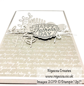Nigezza Creates Father's Day Card Using Stampin' Up! Products