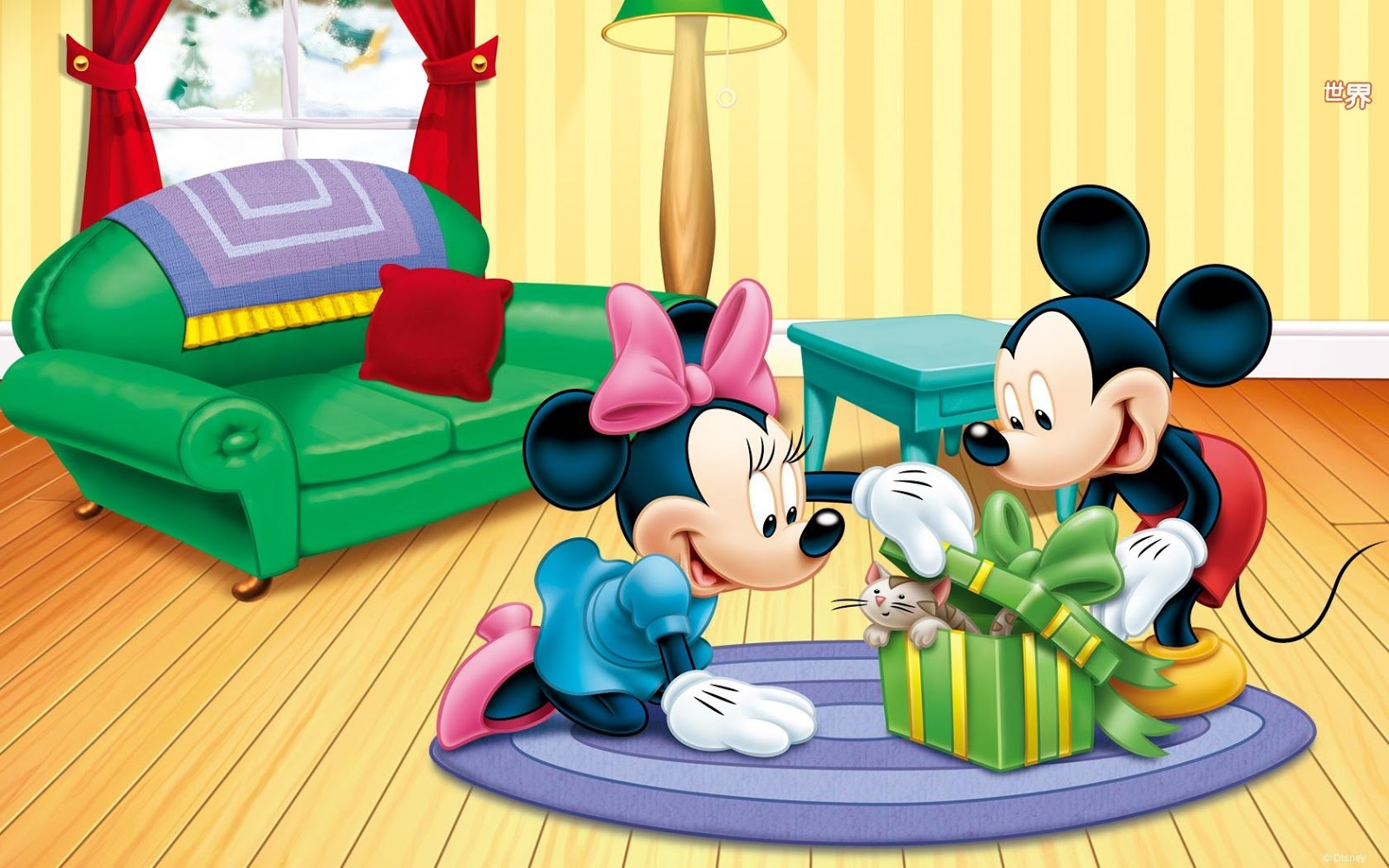 Hd Cartoons Wallpapers Mickey And Minnie Christmas