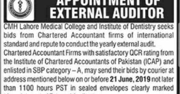 Jobs in CMH Lahore Medical College   Jobalerts4all - Jobalerts4All