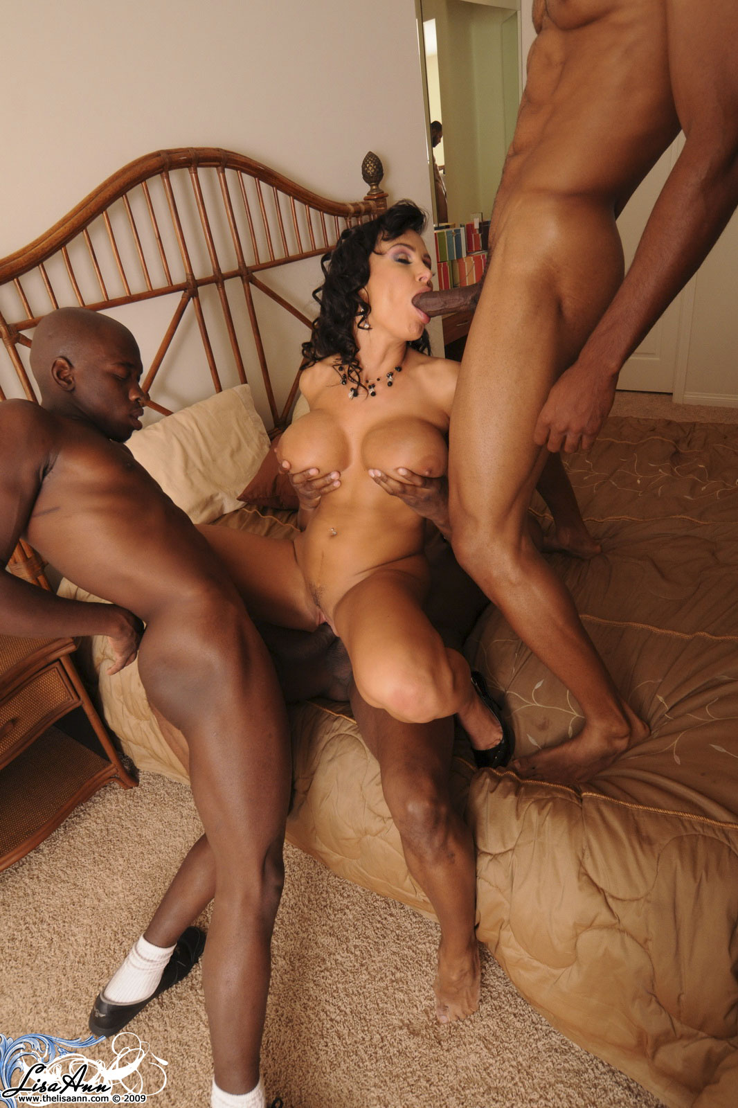Lisa Ann Black Threesome