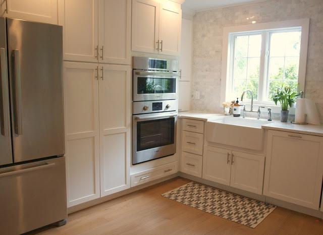 Luxury LG Viatera quartz Minuet countertop white kitchen farmhouse