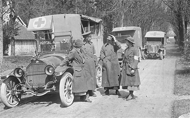 Scottish Women's Hospitals ambulance drivers on the Macedonian Front (source of photo: Australian War Memorial Collection)