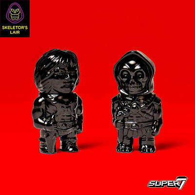 San Diego Comic-Con 2017 Exclusive Masters of the Universe Black He-Man & Skeletor Micro Vinyl Figures by Super7