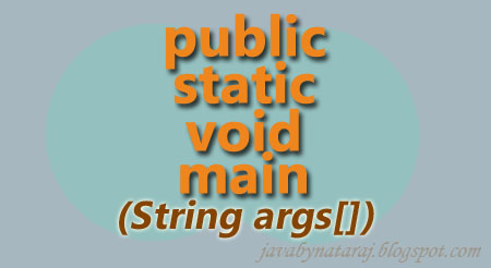 why public static void main in java_JavabynataraJ