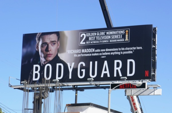 Bodyguard Golden Globe nominee billboard