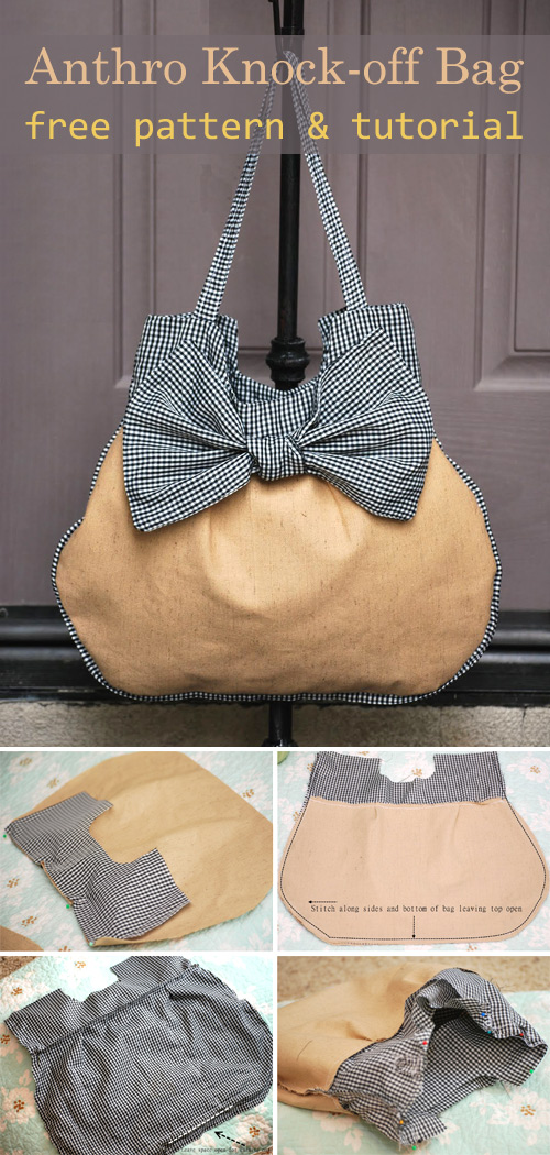 Anthropologie knock-off bag Pattern and Tutorial