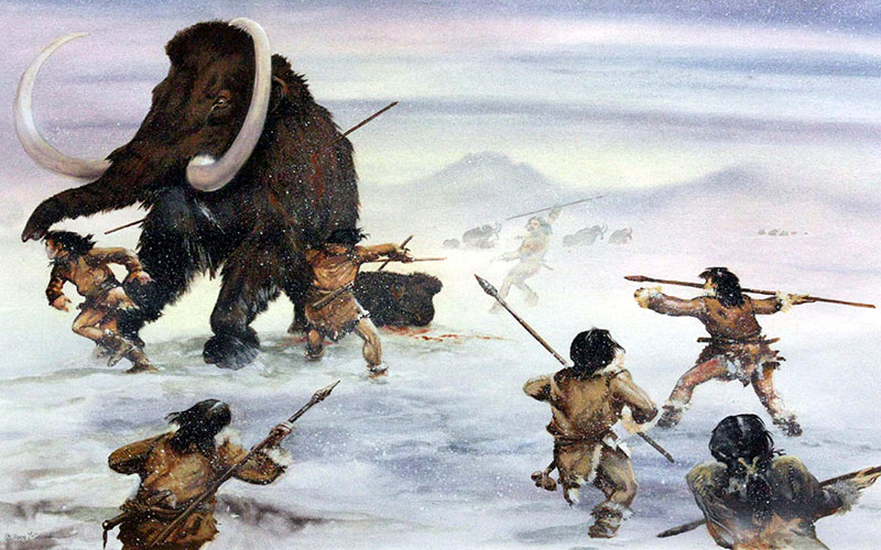 Первобытные люди охотятся на мамонта  | Шнобелевская премия 2018