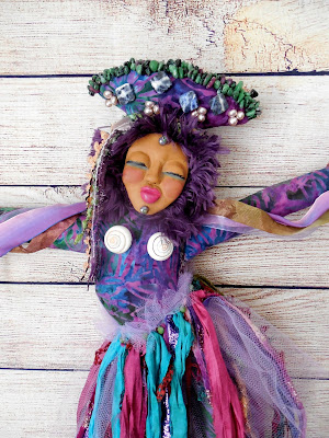 OOAK Dancer Art Doll with Ribbon Skirt and Bells