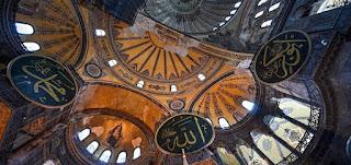 الرئيس التركي رجب طيب اردوغان يقوم بزيارة رمزية لآيا صوفيا