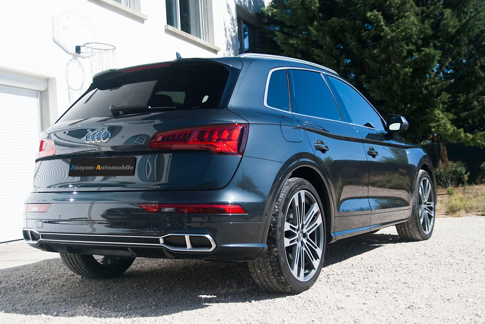 Audi SQ5 propre vue en 3/4 arrière