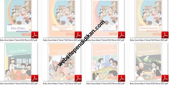 Buku Tematik Terpadu Kurikulum 2013 Revisi 2017 Kelas 4 SD/MI Semester 2 Tema 6, 7, 8, dan 9