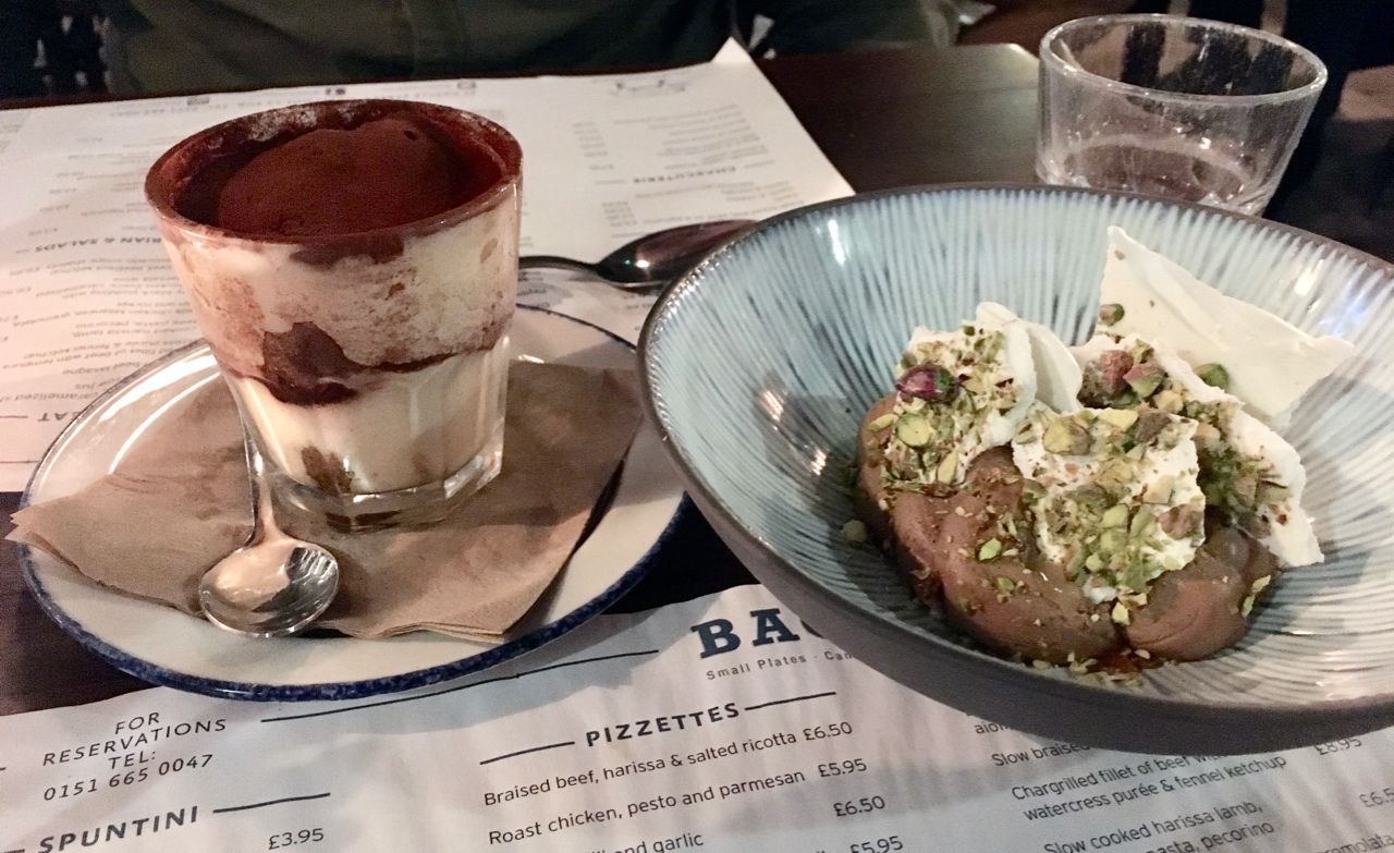 Places to eat in Liverpool - Bacaro desserts
