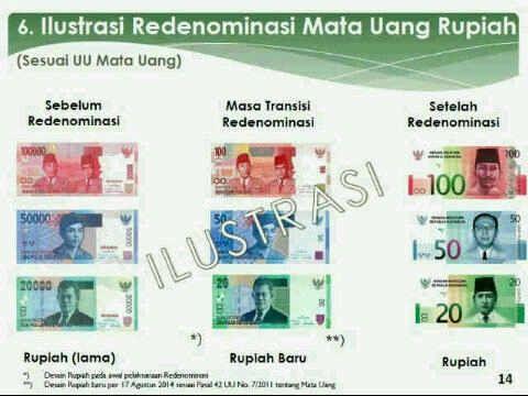 Redenominasi Rupiah Dari Rp 1000 Menjadi Rp 1 Begini Penampakan Mata Uangnya