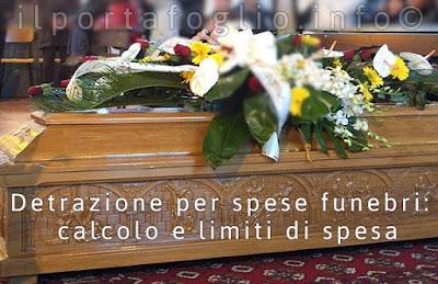 detrazioni spese funerarie