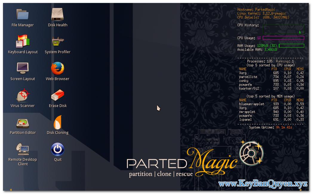 Download Parted Magic 2019 Full, Đĩa CD cứu hộ hệ thống đỉnh cao .