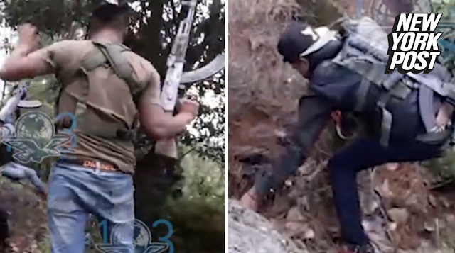 Mexican 'sicario' hitmen film themselves gunning down 4 cops