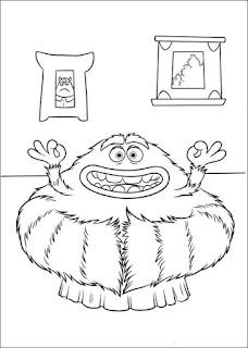 Ausmalbilder Monsters University zum Ausdrucken