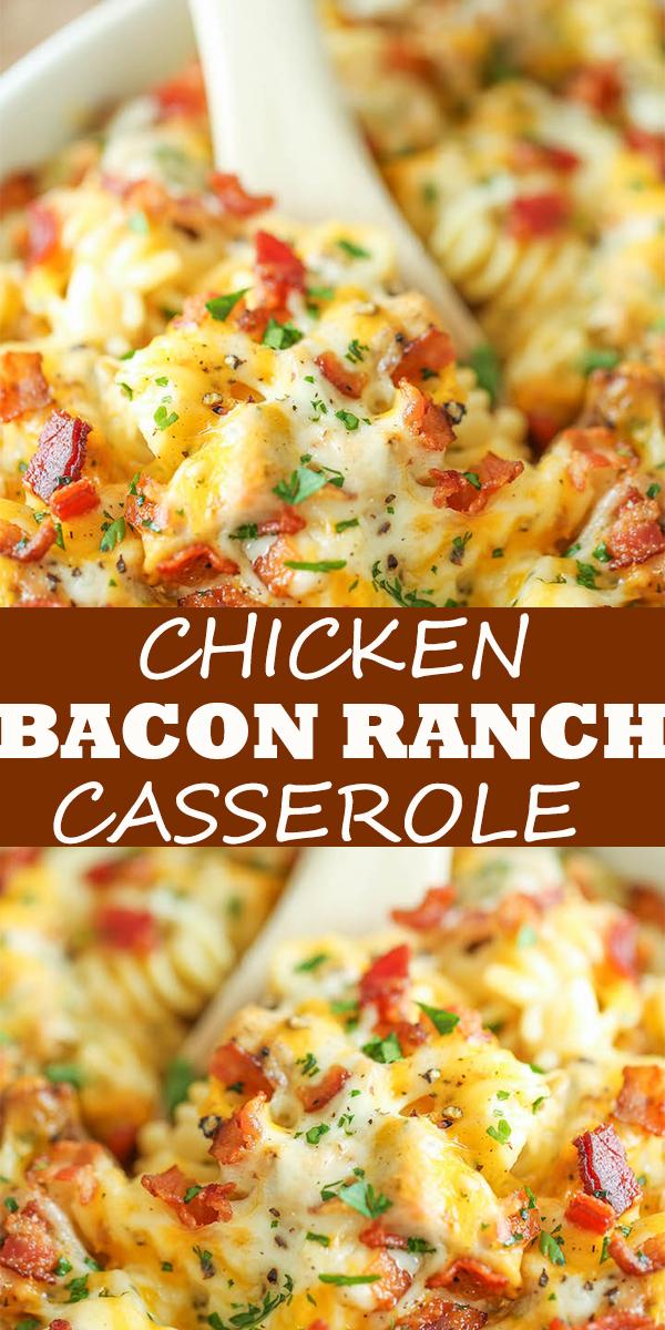 CHICKEN BACON RANCH CASSEROLE #CHICKEN #BACON #RANCH #CASSEROLE #CHICKENBACONRANCHCASSEROLE