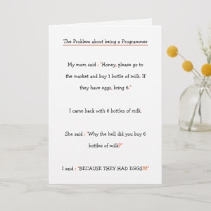 Problem about being a Programmer.. Funny Birthday Card