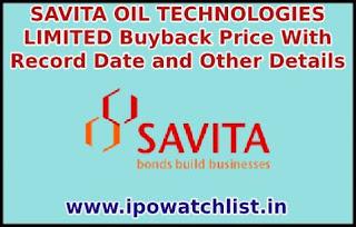 SAVITA OIL TECHNOLOGIES LIMITED Buyback