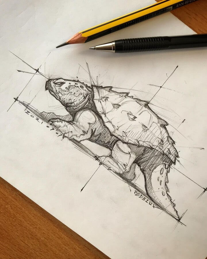 07-Giant-Snapping-Turtle-Psdelux-www-designstack-co