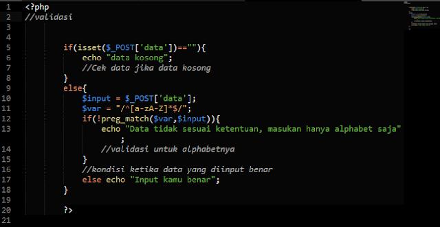 Membatasi Input Form Hanya Alphabet Menggunakan PHP