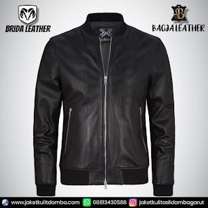Jual Jaket Kulit Asli Garut Pria Domba Original Brida Leather B09 Bomber   WA 08813430588