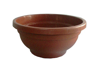 round bonsai plastic pot