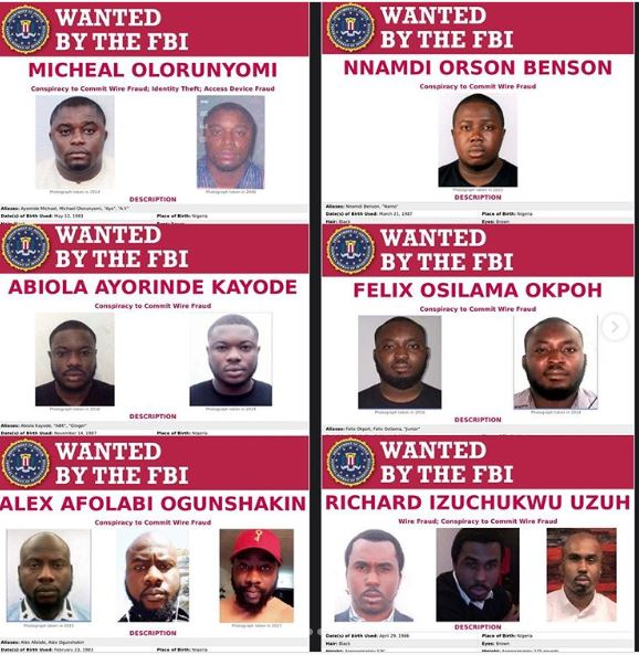 Fbi Lists 6 Nigerians Among Most Wanted Cyber Criminals