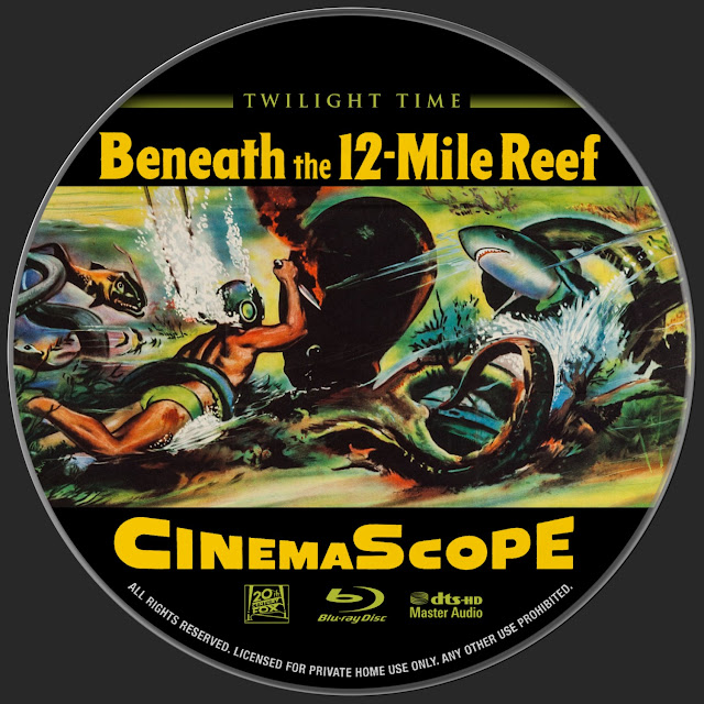 Beneath the 12-Mile Reef (1953) Bluray Label