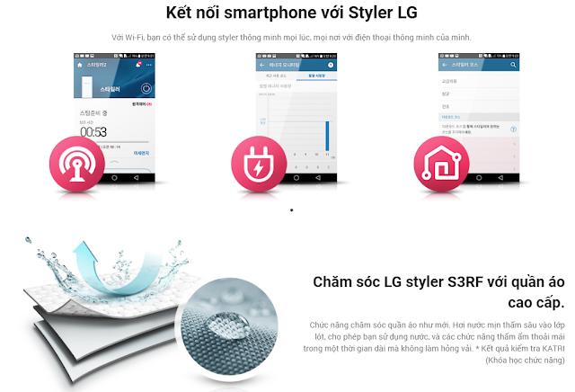 Kết nối smartphone với Styler LG