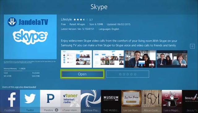 cara pasang aplikasi di smart tv samsung
