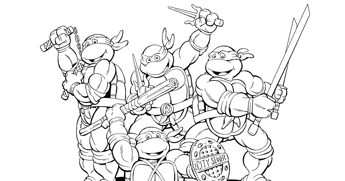 Craftoholic: Teenage Mutant Ninja Turtles Coloring Pages