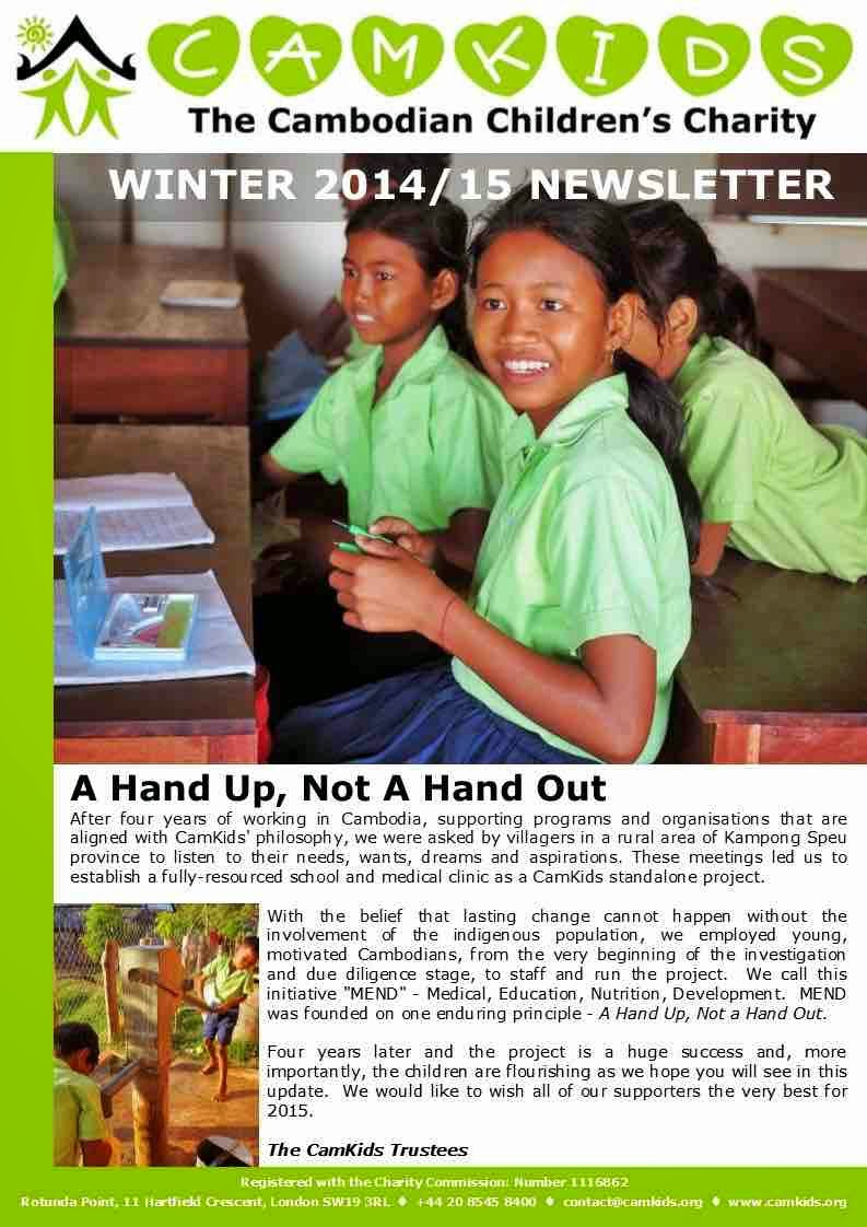 CamKids Winter 2014 Newsletter