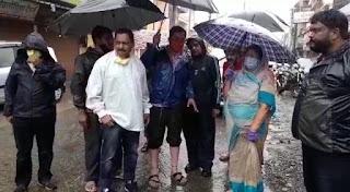 पूर्व महापौर व विधायक मालिनी लक्ष्मणसिंह गौड़ ने किया दौरा