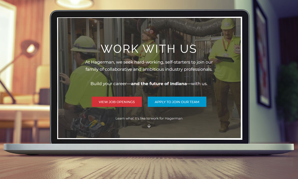 careers website page example