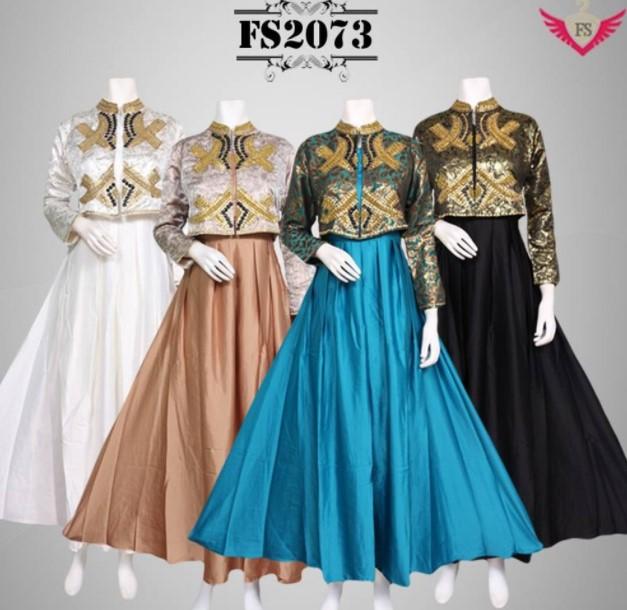 Model Baju Gamis Wanita Modern dan Terbaru
