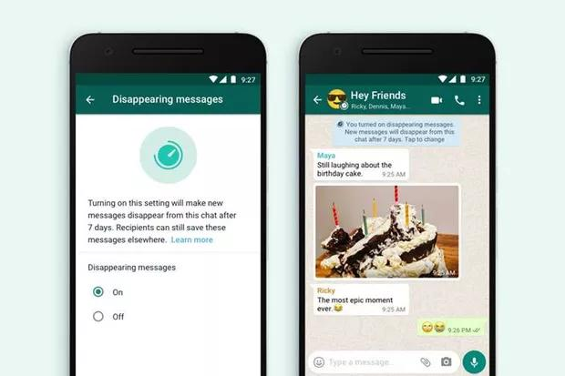 WhatsApp Launches Disappearing Message Feature