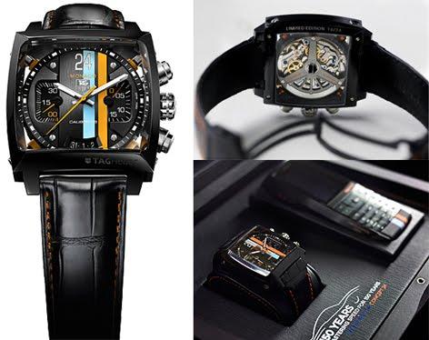 c9f64847041 Características Técnicas  Referência  CAL5110.SET24 Edição limitada a 24  exemplares  estojo personalizado com um relógio TAG Heuer Monaco ...